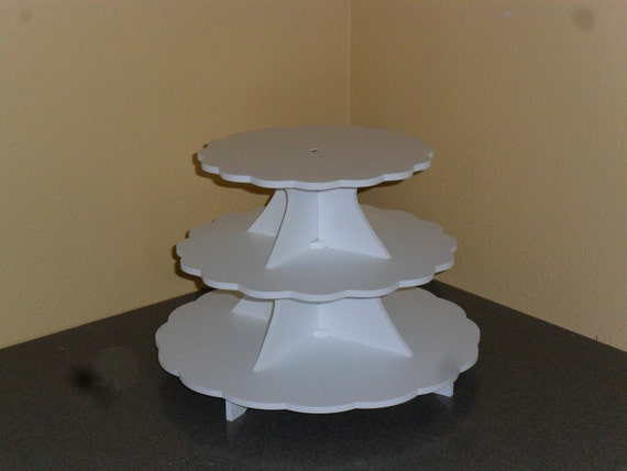 3 tier cake stand cupcake stand 3 5 pvc plastic. Black Bedroom Furniture Sets. Home Design Ideas