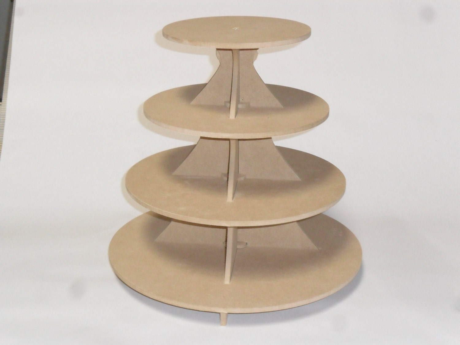 4 tier round cake cupcake stand mdf 3 5. Black Bedroom Furniture Sets. Home Design Ideas