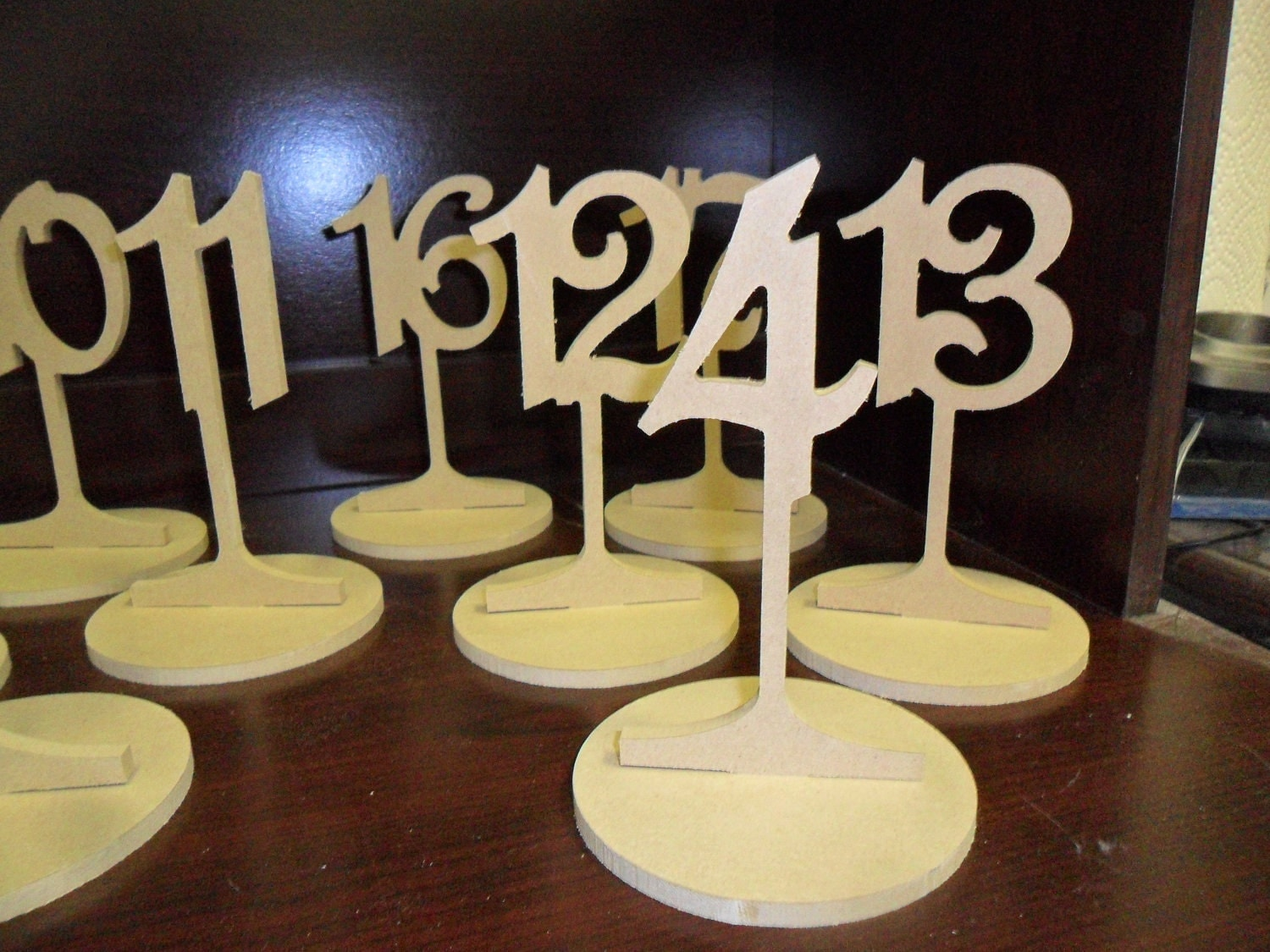 Wooden Table Numbers ~ Wooden table numbers tall with
