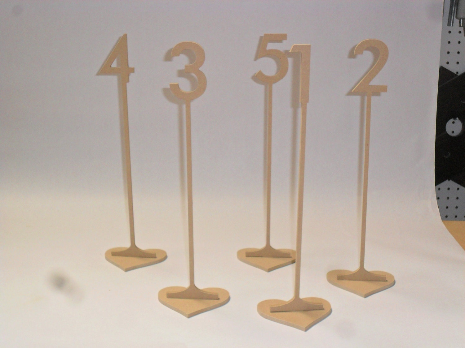 Wooden Table Numbers ~ Wooden table numbers tall number with base