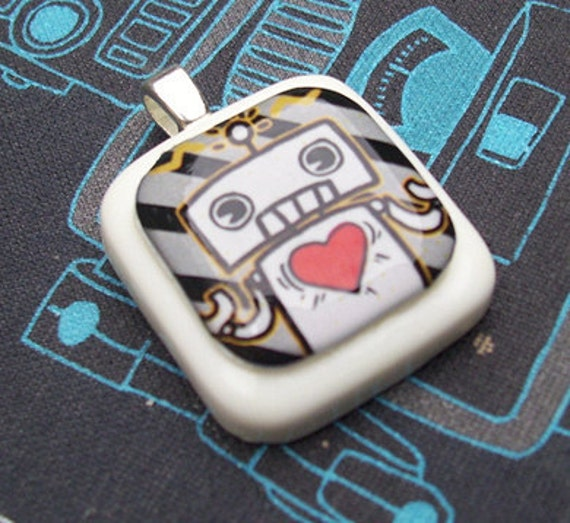 Paranoid Android Robot Resin Pendant