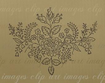 Floral Motif 5 Pack, Overlay, 2 Digital Scrapbook Papers, Single Clip Art in png & svg, Royalty Free, Purple, Brown, Design Elements Flowers