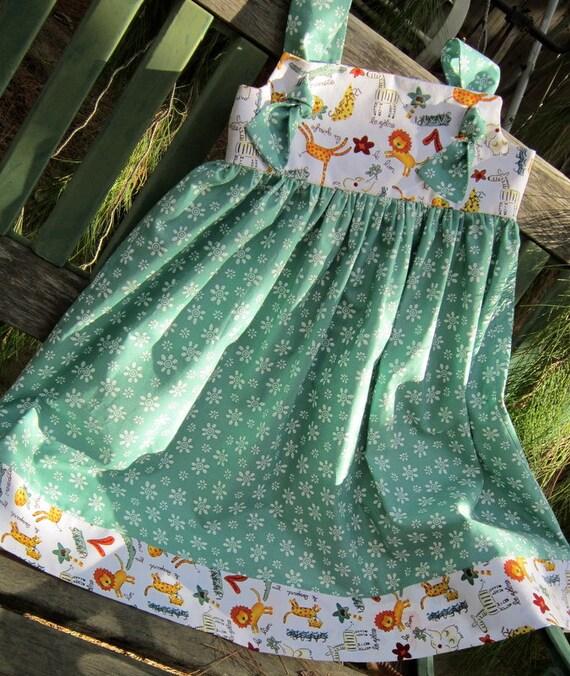 Safari Knot Dress Jumper---Girls size 5