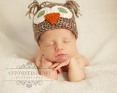 Crochet Baby Owl Hat 0-3 and 3-6 months Sale Buy 3 Get 1 Free