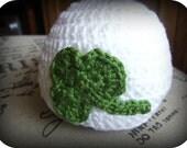 Baby St Patrick's Day Clover Hat Newborn 0-3 mo 3-6 mo
