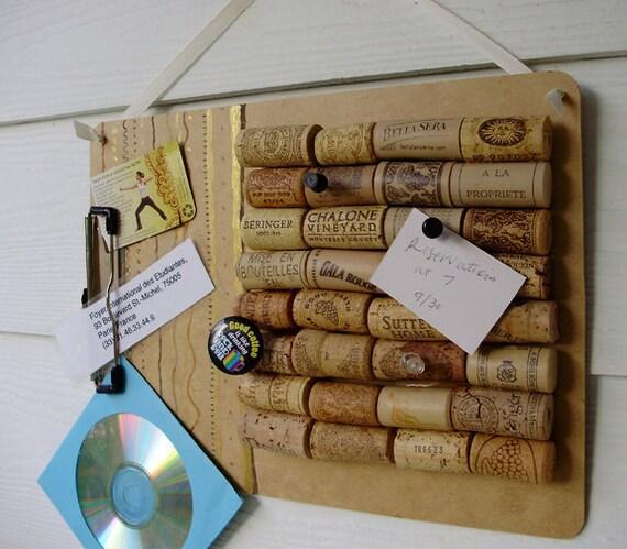 Items similar to bulletin board cork board upcycled for Bulletin board organizer