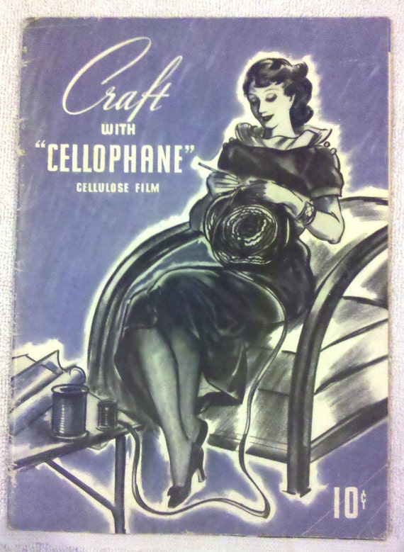 1935 Vintage Magazine - Craft With Cellophane