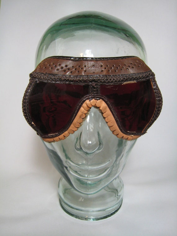 WWII Vintage NOS Dark Adaptation Pilot's Goggles in Box