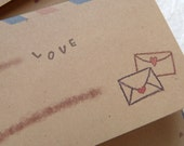 10 Air Mail envelopes / Love