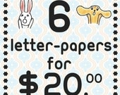 Value Pack / 6 letter-papers you pick -only 3.99dollars items-
