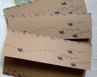 10 AirMail envelopes / Black Bird
