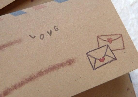 10 Air Mail envelopes / Love