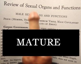 Erect Altar Organ mini Statue MATURE  fair skin-tone male genitals