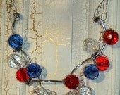 Patriotic Firework Necklace with FREE Earrings includes FREE SHIPPING