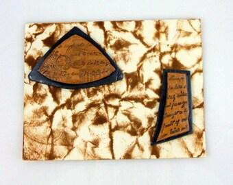 Antiqued Greek Inspired Artifact Handmade Greeting Card