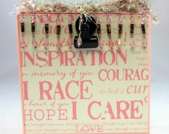 Photo Block Breast Cancer Inspiration Hope & Courage