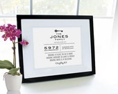 Custom Housewarming/New Home Keepsake Print -- Personalized 8 x 10 print in 11 x 14 frame with mat. Makes a great gift.