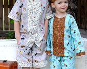 The Pajama Party PJs sizes 12m to 5T Printed Sewing Pattern by Fishsticks Designs