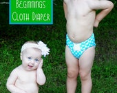 The Green Beginnings Cloth Diaper Printed Sewing Pattern by Fishsticks Designs