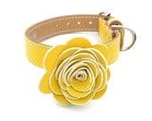 The Flower Child Dog Collar - Sunshine Yellow