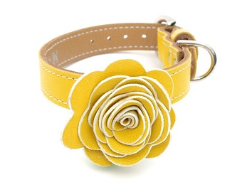 The Flower Child Dog Collar - Sunshine Yellow