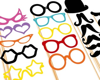 Photo Booth Props - 31 Piece BEST Wedding Party Set - Photobooth Prop On a Stick