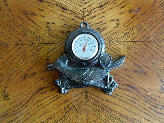 Vintage Hanging Roadrunner Outdoor Thermometer