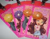 Paper Goods - Vintage Valentines -  Tags -Valentine Cards - Treat Bags- Party Invitations - Gifts - Girls - Flowers