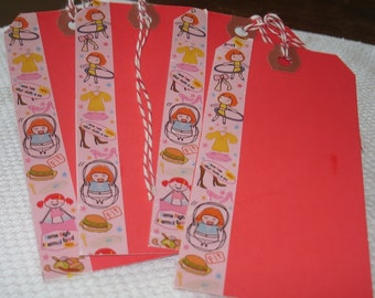 Paper Goods Paper Tags Girly Girl Sports Pattern