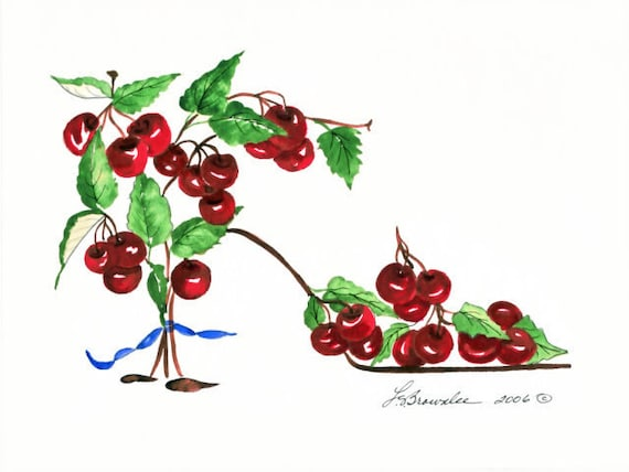 Shoe Print - Cherry Tree - Reserved for icingonthemoon