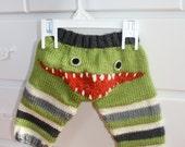 Hand Knit Monster Leggings for Baby
