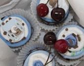 Baby diaper washcloth cupcake gift set birthing gift