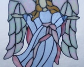 """Stained Glass Angel - 11"""" Tall - Grace 3"""