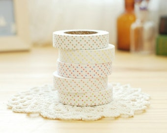 Decorative Adhesive Fabric Tape- Polka Dot