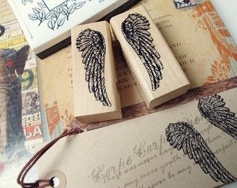Angel Wings Rubber Stamp Pair