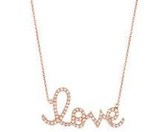 LOVE Necklace, delicate necklace, mother day gift
