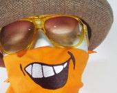Big Smile- Embroidered Bandanna- PICK YOUR COLOR