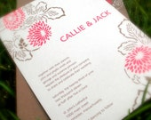 Wedding Invitation Package PRINTABLE -- Asian Inspired, Dahlia, Invitation, Thank You Note, Table Numbers