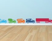 Truck Wall Decal - 5 Piece Truck Room Decor Set - Children's Decor