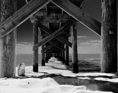 Under the Boardwalk - 8x10 Photograph mounted in 11x14 Mat, including backing board.