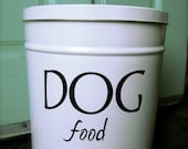 Dog Food Storage Tin- small size