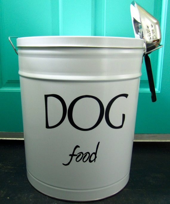 Pet Food Storage Tin By Thebeeskneesworkshop On Etsy