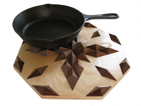 Wooden Walnut Hot Pad.  Wood, table centerpiece, hot pad, or trivet.