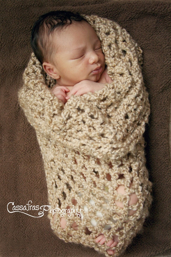 Taupe Baby Cocoon Photo Prop