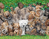 wild bunch . . . 11 X 14 . . . canvas wrap print