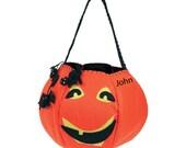 Jolly Jack Pumpkin Trick or Treat bag. Free Personalization