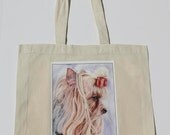 Yorkshire Terrier dog image on a Natural Cotton Tote