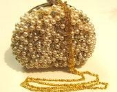 Bridal Clutch, bridal evening bag, bridesmaids evening bag, bridesmaid clutch, purse, handbag, Swarovski crystal pearl clutch