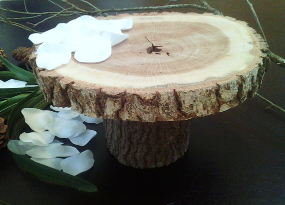 tree bark wedding cake stand items similar to 15 quot rustic wedding cake stand 21249
