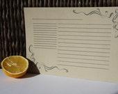Vintage-inspired letterpress recipe cards, set of 6